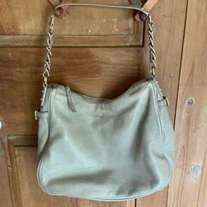 Kate Spade pebbled leather hobo chain shoulder bag